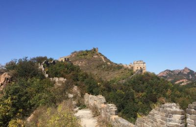 THE GREATWALL GOES ACROSS THE BORD OF THREE PROVINCE